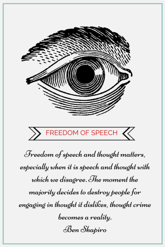 Freedom of speech and thought matters,