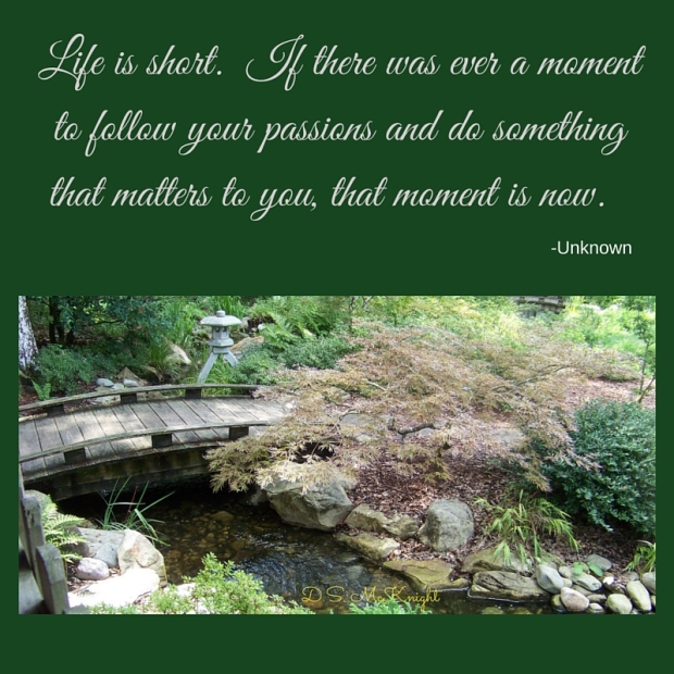 Life is short. If there was ever a moment