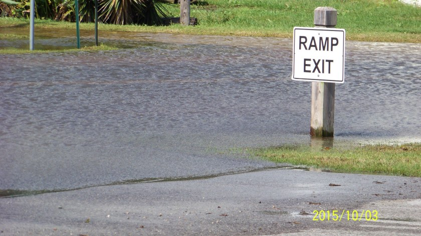 That's not the ramp or the river - just the road - flooded...