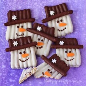 chocolate-snowman-pretzel-craft-sticks-popsicle-crafts-